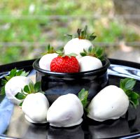 White Chocolate Coated Strawberries