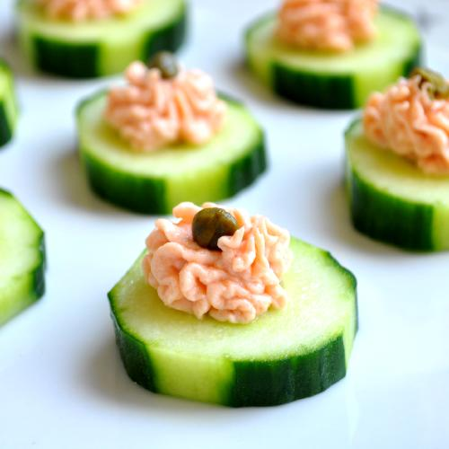 Salmon canapes recipe dishmaps for Simple canape ideas