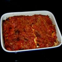 Cannelloni Gratin with a Ricotta and Goat Cheese Filling